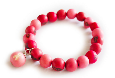 Breast Cancer Awareness Acai round bracelet