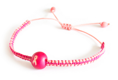 Breast Cancer Awareness Acai woven bracelet